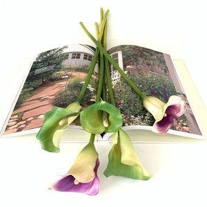 Faux Calla Lily Flowers 🌸 (Hard Plastic) - 5 pcs